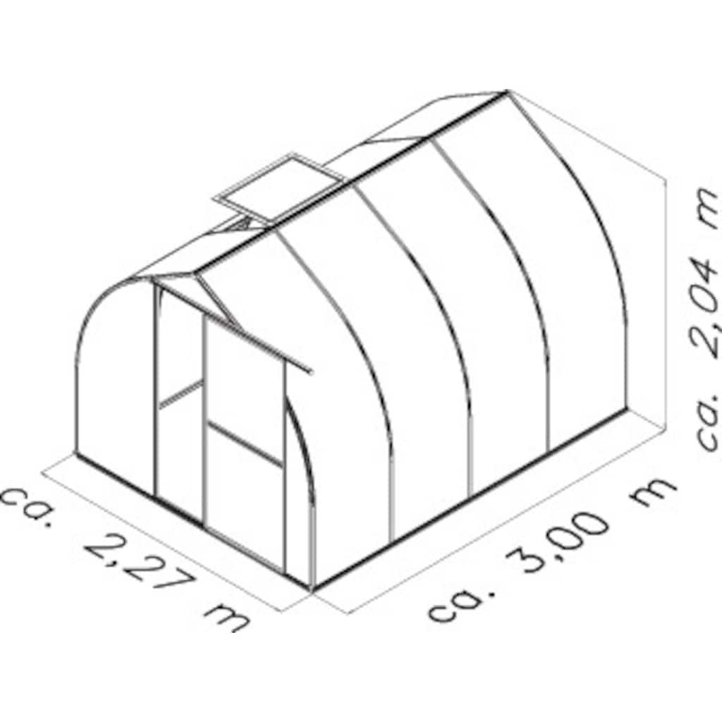 KGT Gewächshaus »Rhodo IV«, BxT: 227x300 cm, aluminiumfarben