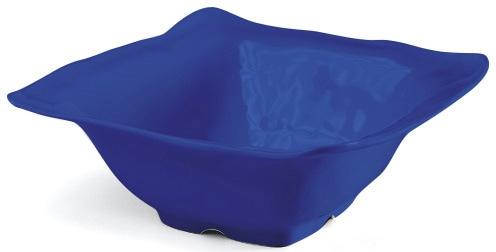 Q Squared NYC Dipschale Ruffle Square Collection, 5,9x5,9 cm blau Geschirr Porzellan Haushalt