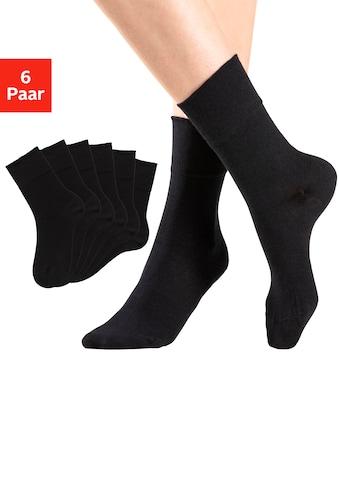 Rogo Socken, (6 Paar), mit Komfortbund auch für Diabetiker geeignet kaufen