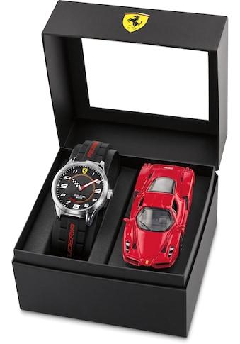 Scuderia Ferrari Quarzuhr »PITLANE, 870043« (Set, 2 tlg., mit Modellauto) kaufen