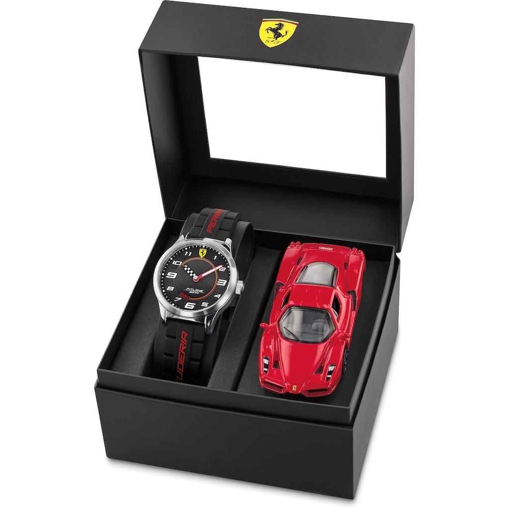 Scuderia Ferrari Quarzuhr »PITLANE, 870043«, (Set, 2 tlg., mit Modellauto)