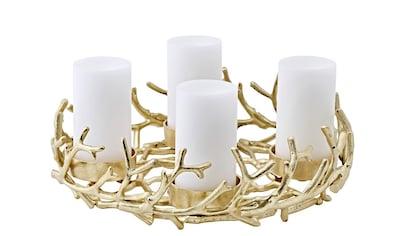 EDZARD Adventskranz »Porus«, Kerzenhalter für Stumpenkerzen, Tischdeko, Weihnachtsdeko... kaufen