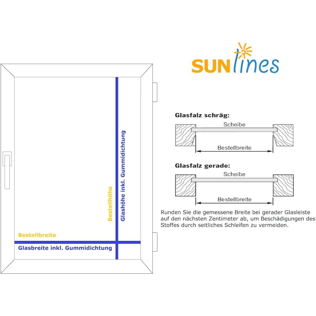 Plissee nach Maß, »Start-up Style Taft«, sunlines, Lichtschutz, mit Bohren, verspannt