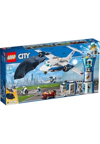 """LEGO® Konstruktionsspielsteine """"Polizei Fliegerstützpunkt (60210), LEGO® City"""", Kunststoff, (529 - tlg.) kaufen"""