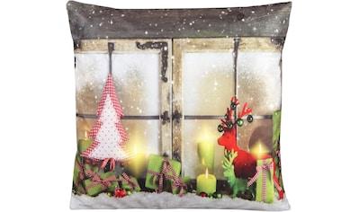 Delindo Lifestyle Kissenhülle »Weihnachtsstimmung«, (1 St.), LED-Kissenbezug mit... kaufen