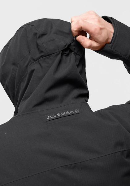 jack wolfskin winterjacke west coast jacket schwarz l 50 52