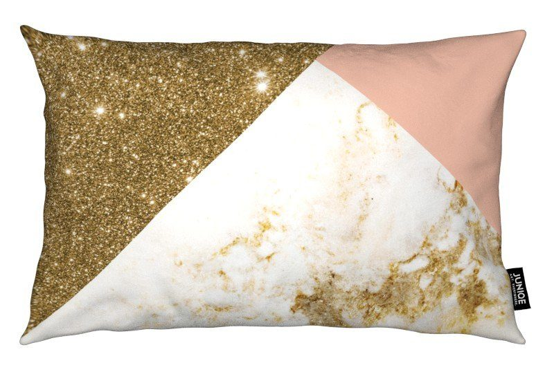 Dekokissen Pink and Gold Marble Collage Juniqe