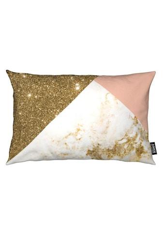 Dekokissen, »Pink and Gold Marble Collage«, Juniqe kaufen