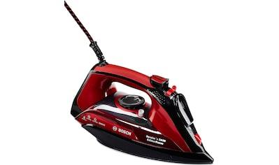 BOSCH Dampfbügeleisen »TDA503001P Edition Rosso«, 3000 W, leichtgleitende... kaufen