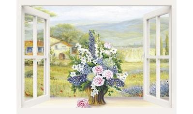 Home affaire Leinwandbild »Heins, A.: Blumenbouquet am weißen Fenster« kaufen