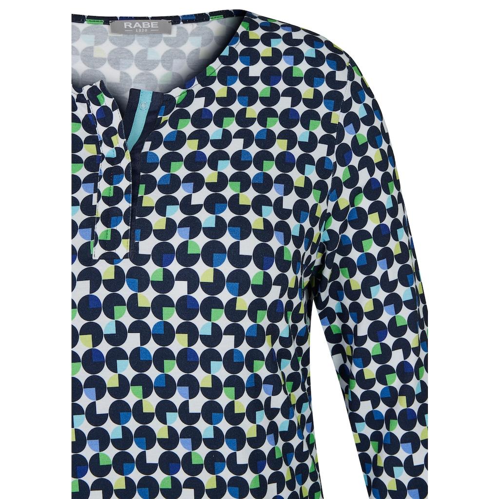 Rabe Shirt mit geometrischem Muster und Rundhalsausschnitt