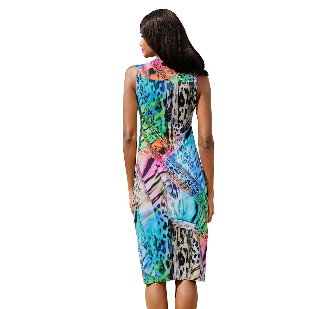 Alba Moda Strandkleid in bunten Regenbogenfarben