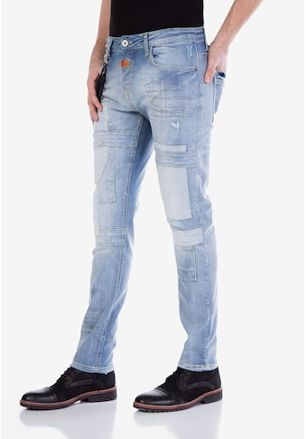 Cipo & Baxx Slim-fit-Jeans, mit Aufnäher kaufen