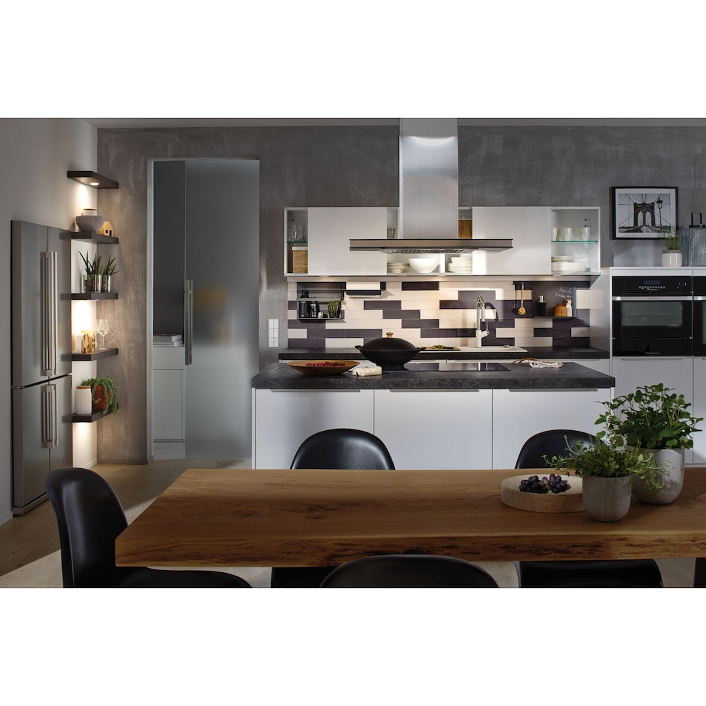 Paulmann LED Einbaustrahler »Möbeleinbauleuchten-Set Micro Line LED Eisen gebürstet, 3er Set«, 3 St., Warmweiß