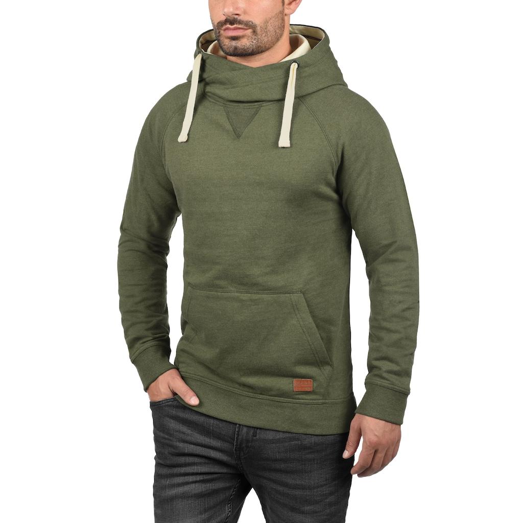 Blend Hoodie »Sales«, Kapuzensweatshirt mit Cross-Over Kragen