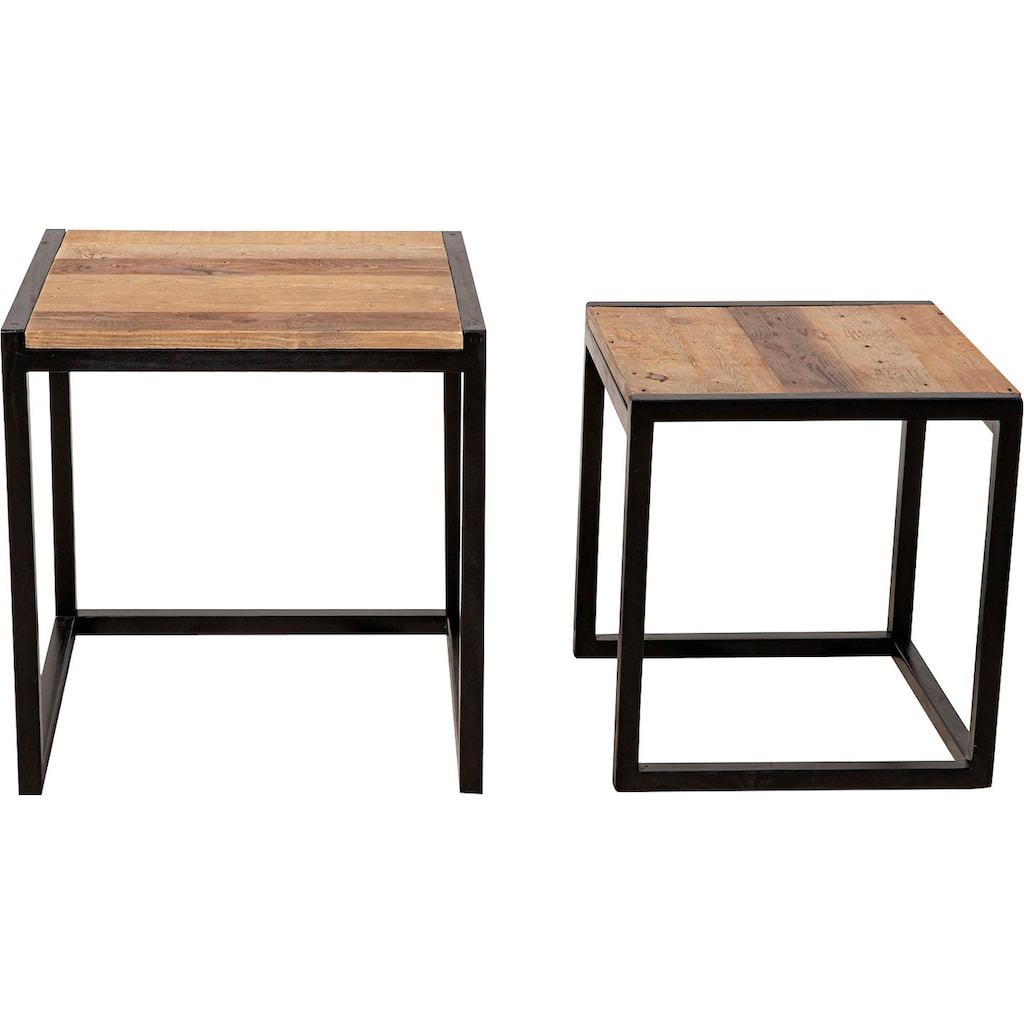 SIT Satztisch »Old Pine«, (Set, 2 St.), aus recyceltem Pinienholz, Beistelltische 2er-Set