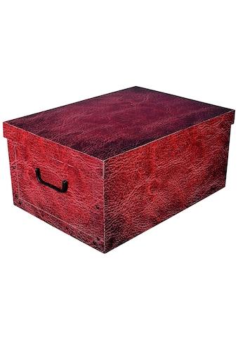 Kreher Aufbewahrungsbox »Red Leather« kaufen