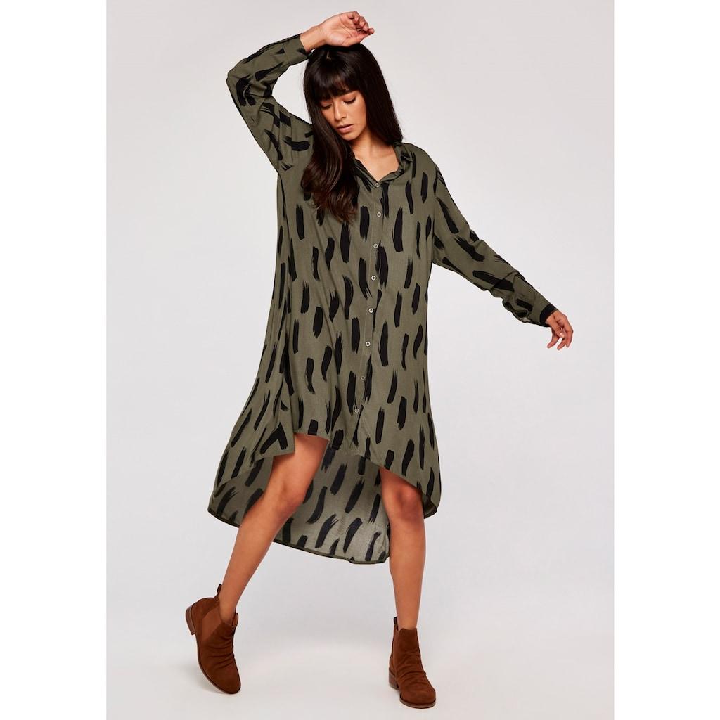 Apricot Hemdblusenkleid »BrushStroke Oversize Shirt Dress«, mit tollem Druck