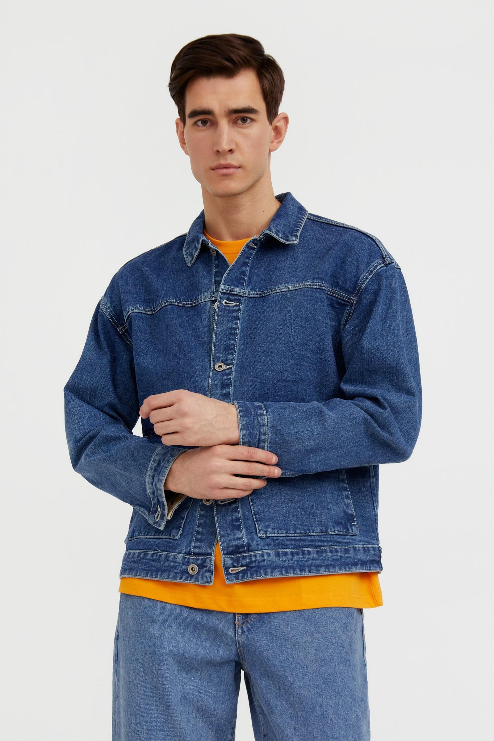 finn flare -  Jeansjacke, mit aufgesetzten Pattentaschen