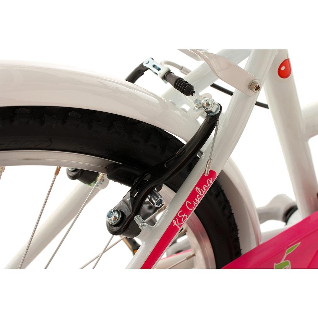 KS Cycling Jugendfahrrad »Cherry Heart«, 6 Gang, Shimano, Tourney Schaltwerk, Kettenschaltung