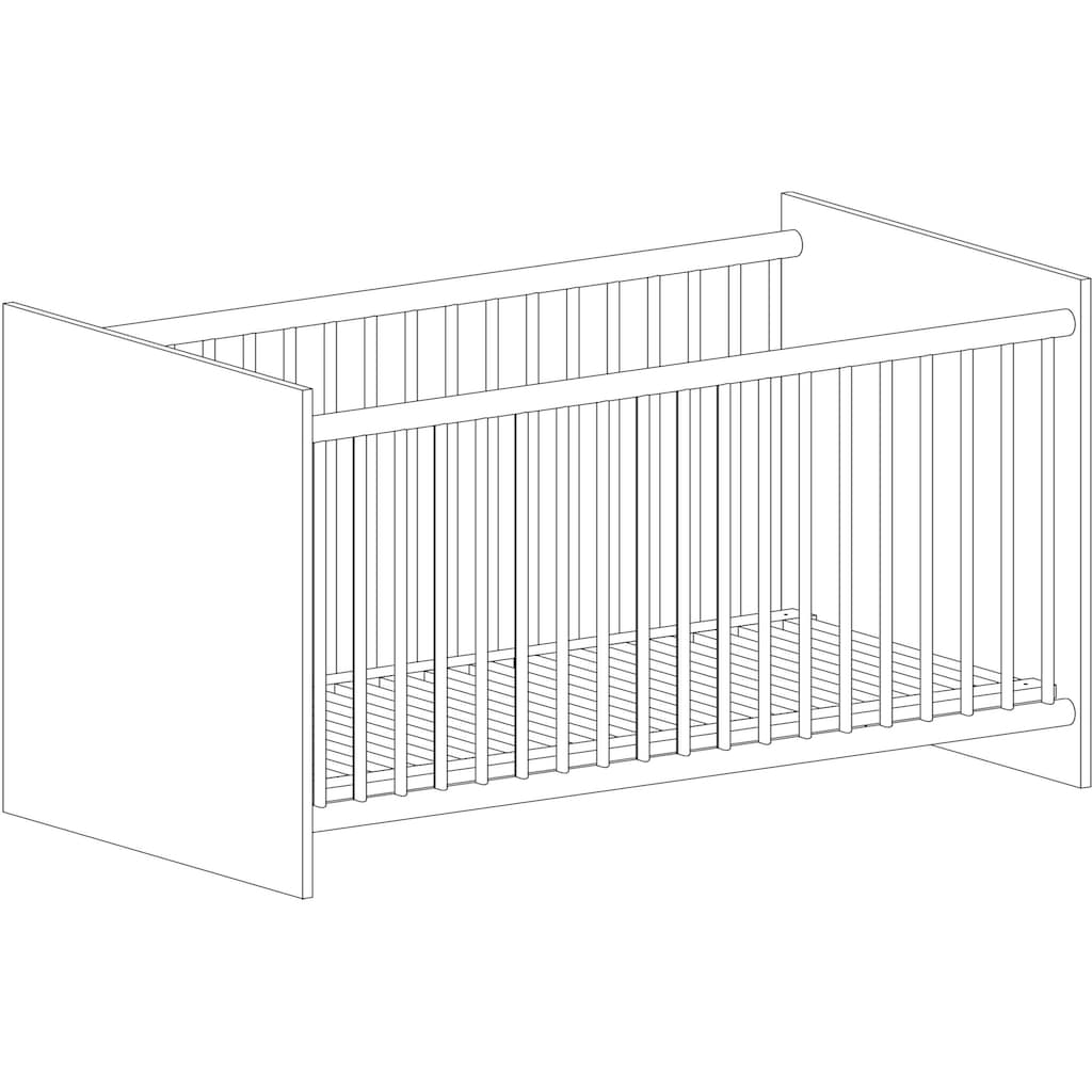 arthur berndt Babymöbel-Set »Jonas«, (Spar-Set, 2 St.), mit Kinderbett und Wickelkommode; Made in Germany