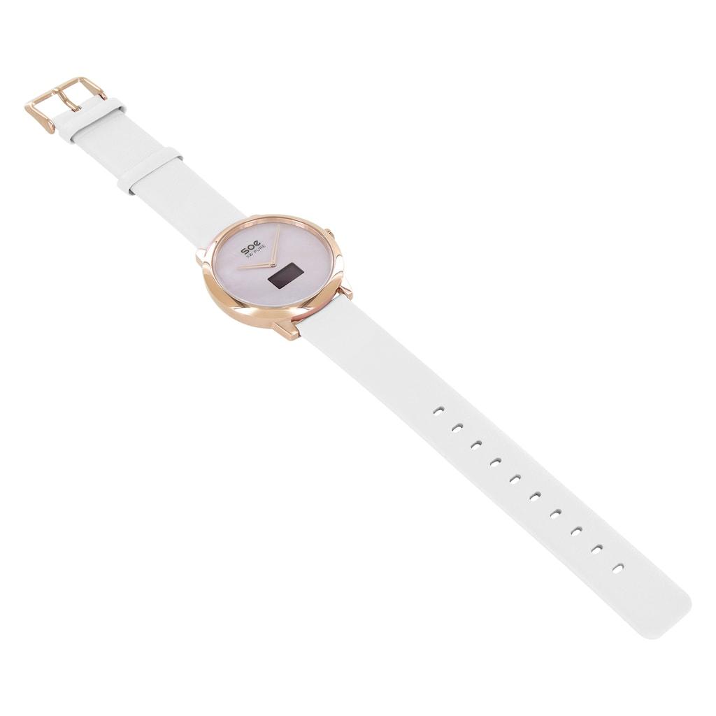 X-Watch Smartwatch »SOE XW PURE LIGHT«, (Hybrid, mit analoger Zeitanzeige und Touch-Display)