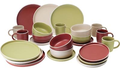 van Well Geschirr-Set »Finja«, (Set, 24 tlg.), Mix aus 3 Farben kaufen