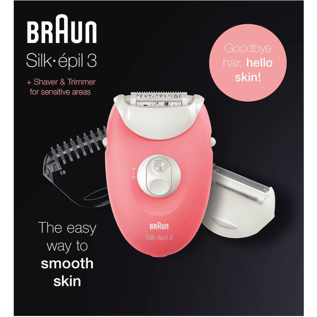 Braun Epilierer »Silk-épil 3 SE 3-440«, Starter 3-in-1 Haarentfernung