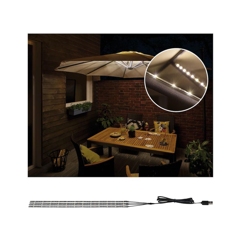 Paulmann LED-Lichterkette »Strip Parasol-Light Schirmbeleuchtung 4er-Set 4x40 cm«, 4 St.-flammig