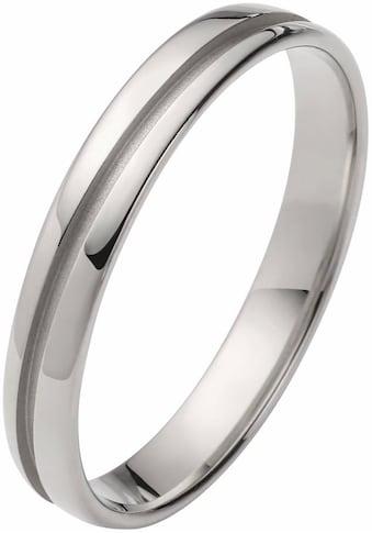 Firetti Trauring mit Gravur »glanz, mattierte Rille im Diamantschnitt, 3,5 mm breit«,... kaufen