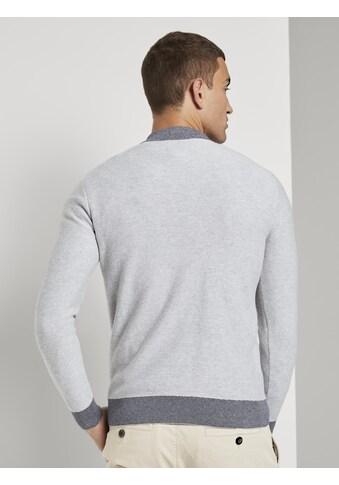 TOM TAILOR Troyer »Melierter Pullover mit Troyer - Kragen« kaufen