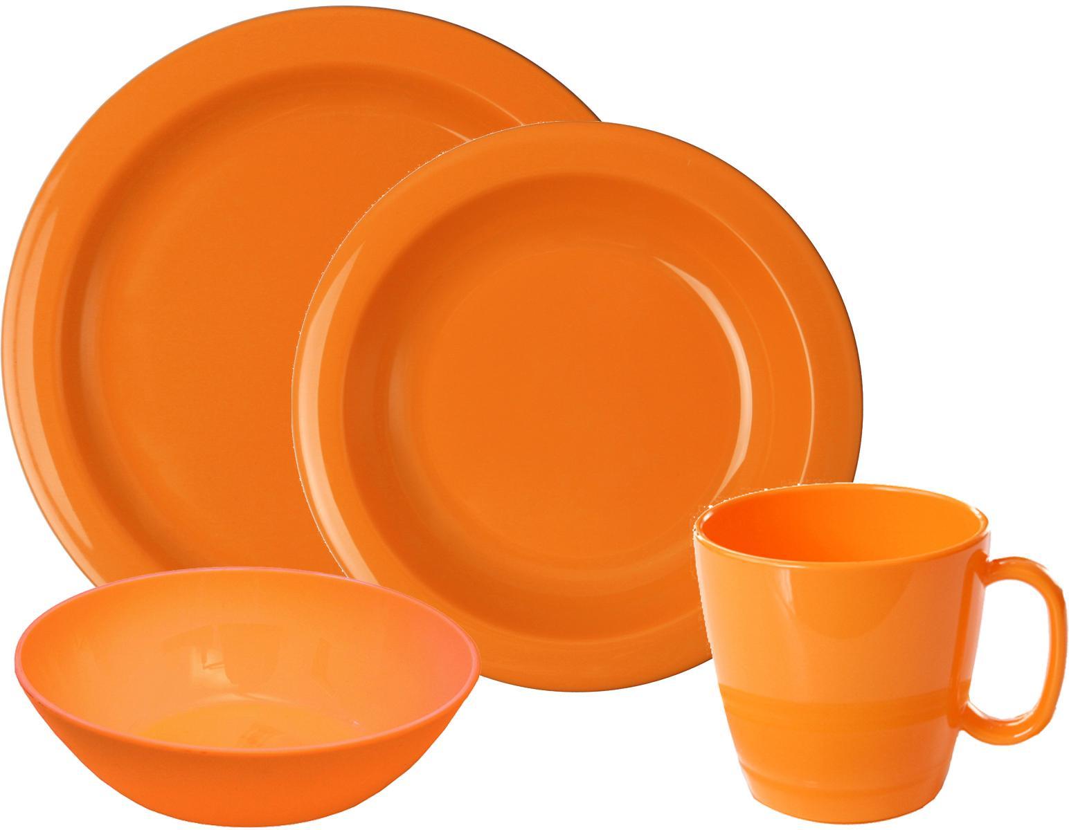 WACA Frühstücks-Geschirrset, (Set, 8 tlg.) orange Frühstücksset Eierbecher Geschirr, Porzellan Tischaccessoires Haushaltswaren Frühstücks-Geschirrset