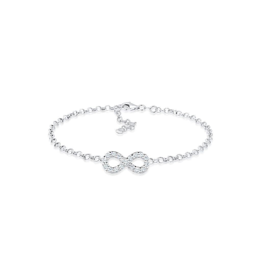 Elli Armband »Infinity Kristalle 925 Silber«