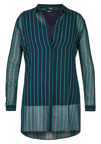 FRAPP Transparente 2 - in - 1 - Bluse mit Streifen Plus Size kaufen