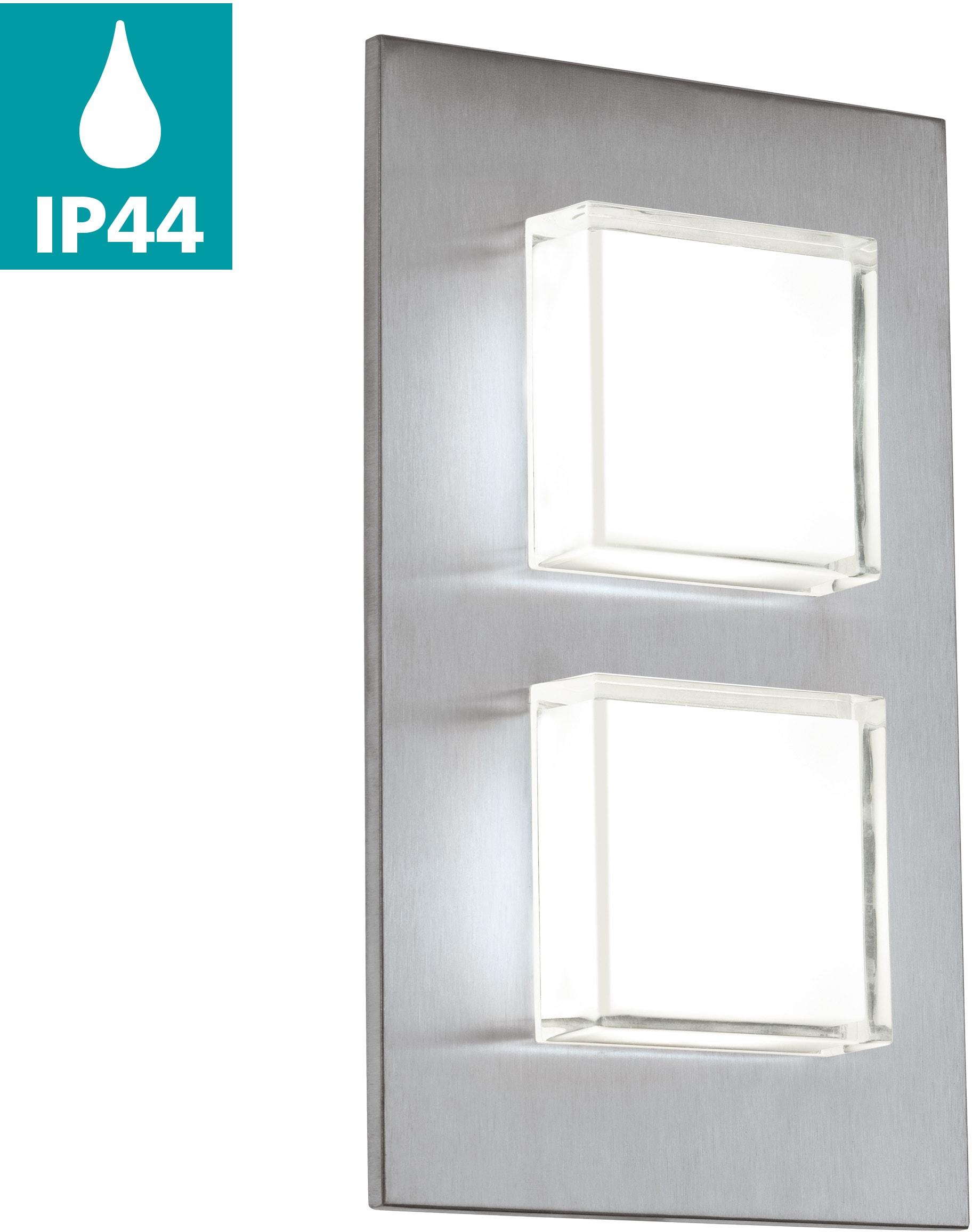 EGLO LED Außen-Wandleuchte Pias, LED-Board, Warmweiß, Eckmontage möglich, LED tauschbar