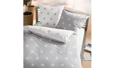 BETTWARENSHOP Bettwäsche »Stars silber«, warme weiche Winterbettwäsche kaufen