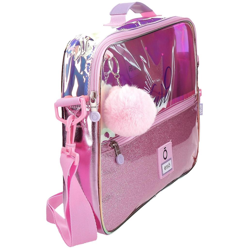 Enso Umhängetasche »Super Girl, rosa«