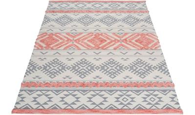 andas Teppich »Darius«, rechteckig, 10 mm Höhe, Hoch-Tief, Pastell, Wohnzimmer kaufen