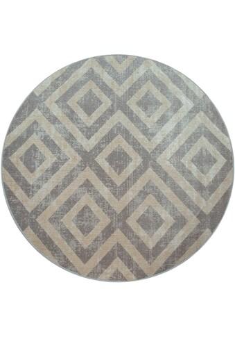 andas Teppich »Pocova«, rund, 7 mm Höhe, In- und Outdoor geeignet, Wohnzimmer kaufen