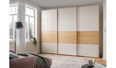 WIEMANN Schwebetürenschrank »Bari«, mit Glasfront und Massivholz-Absetzungen kaufen