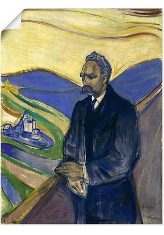 Artland Wandbild »Porträt von Friedrich Nietzsche. 1906«, Mann, (1 St.), in vielen... kaufen
