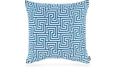 H.O.C.K. Dekokissen »Gauzy blue No 16«, mit tollem Muster kaufen