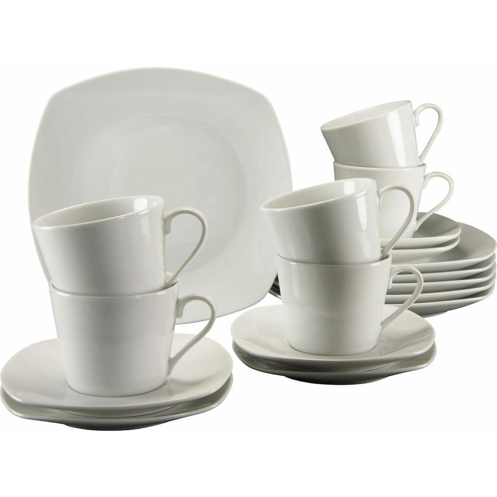 CreaTable Kaffeeservice »Amelie«, (Set, 18 tlg.), Mikrowellengeeignet
