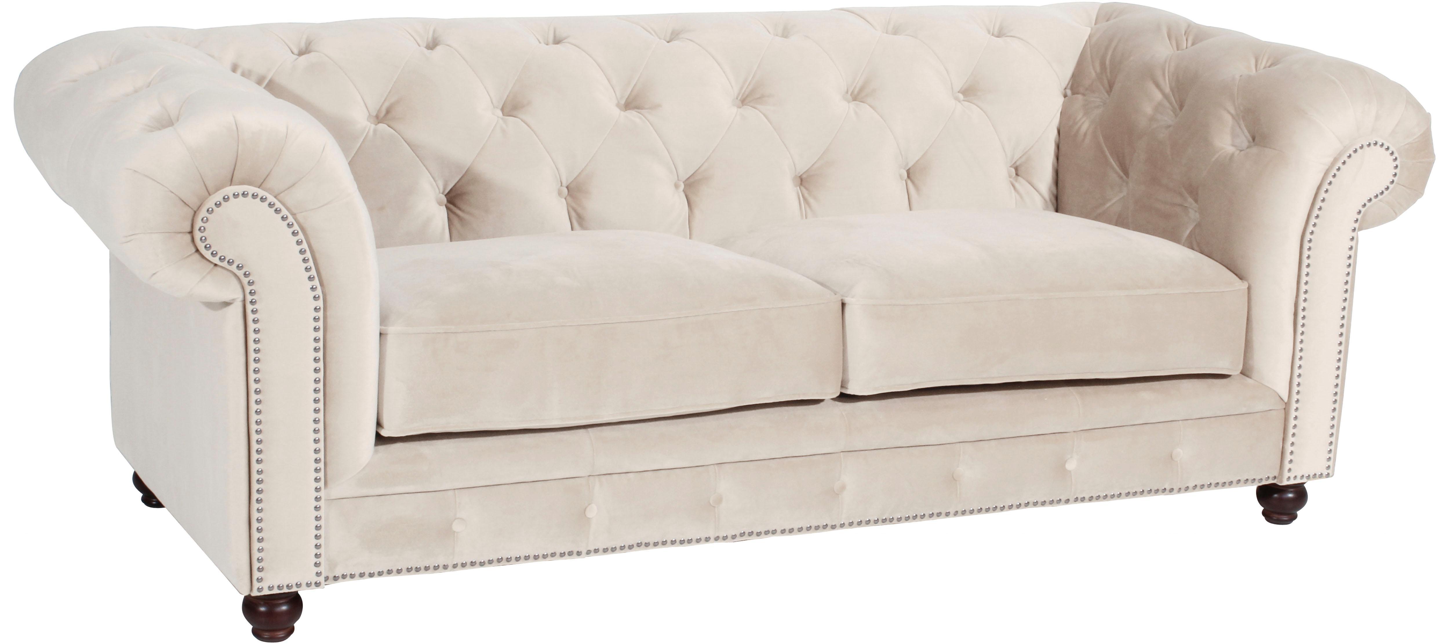 Max Winzer® Chesterfield 2,5-Sitzer Sofa »Old England« im Retrolook, Breite 218 cm