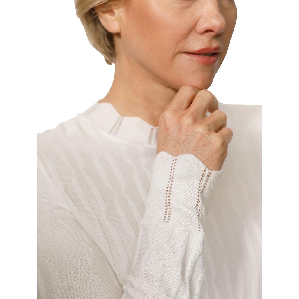 Mona Stehkragenpullover, mit 3D- Effekt