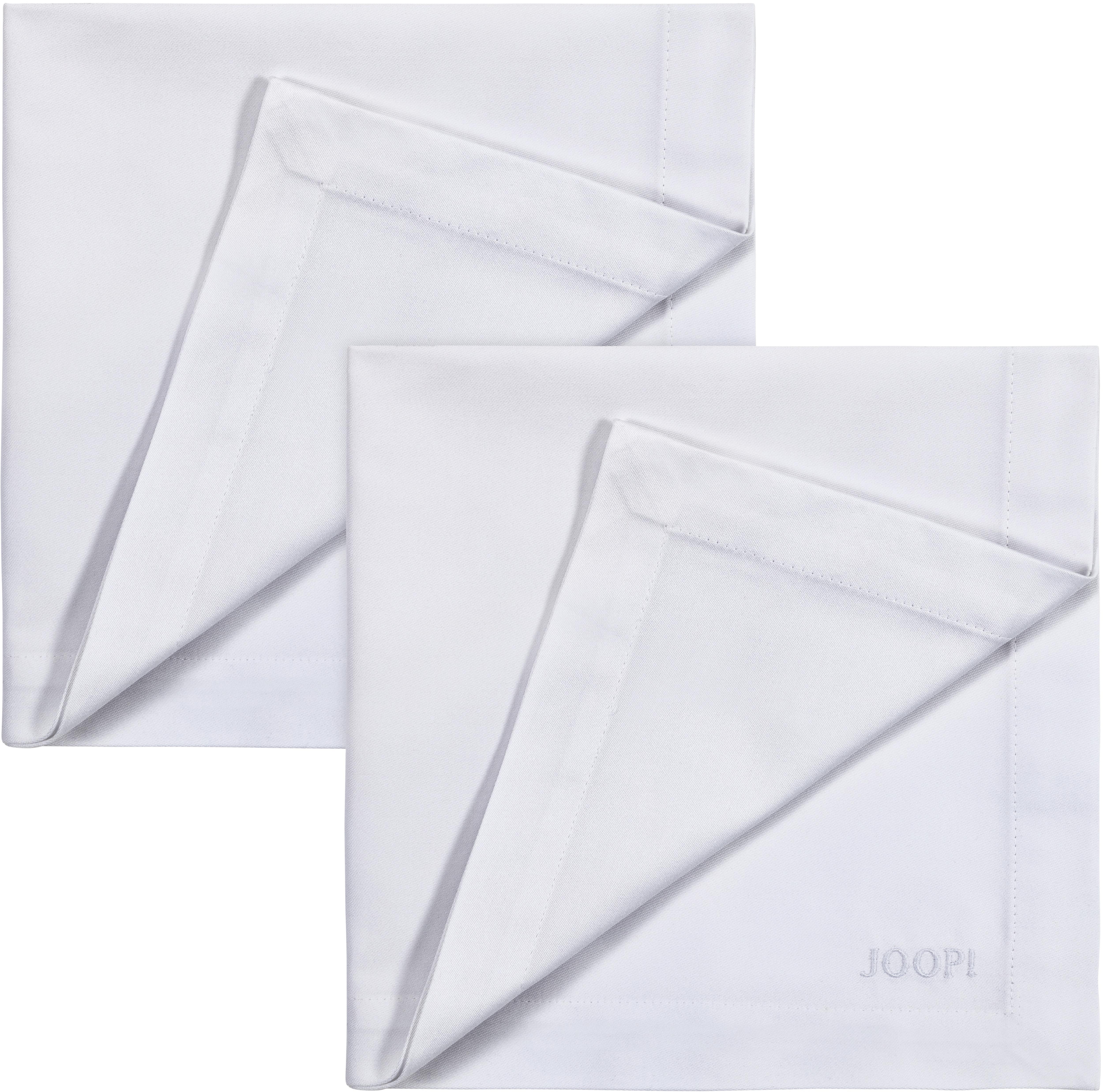 Joop! Joop Stoffserviette STITCH, In Vollzwirn-Qualität mit JOOP Logo- und Kornblumen-Stickerei weiß Stoffservietten Tischwäsche