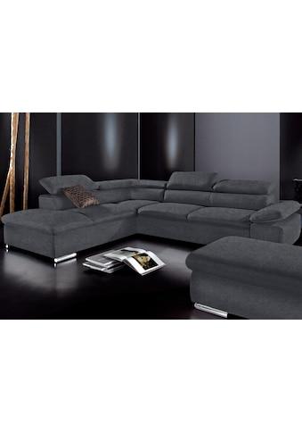 sit&more Ecksofa, wahlweise mit Bettfunktion, frei im Raum stellbar, Ottomane links... kaufen