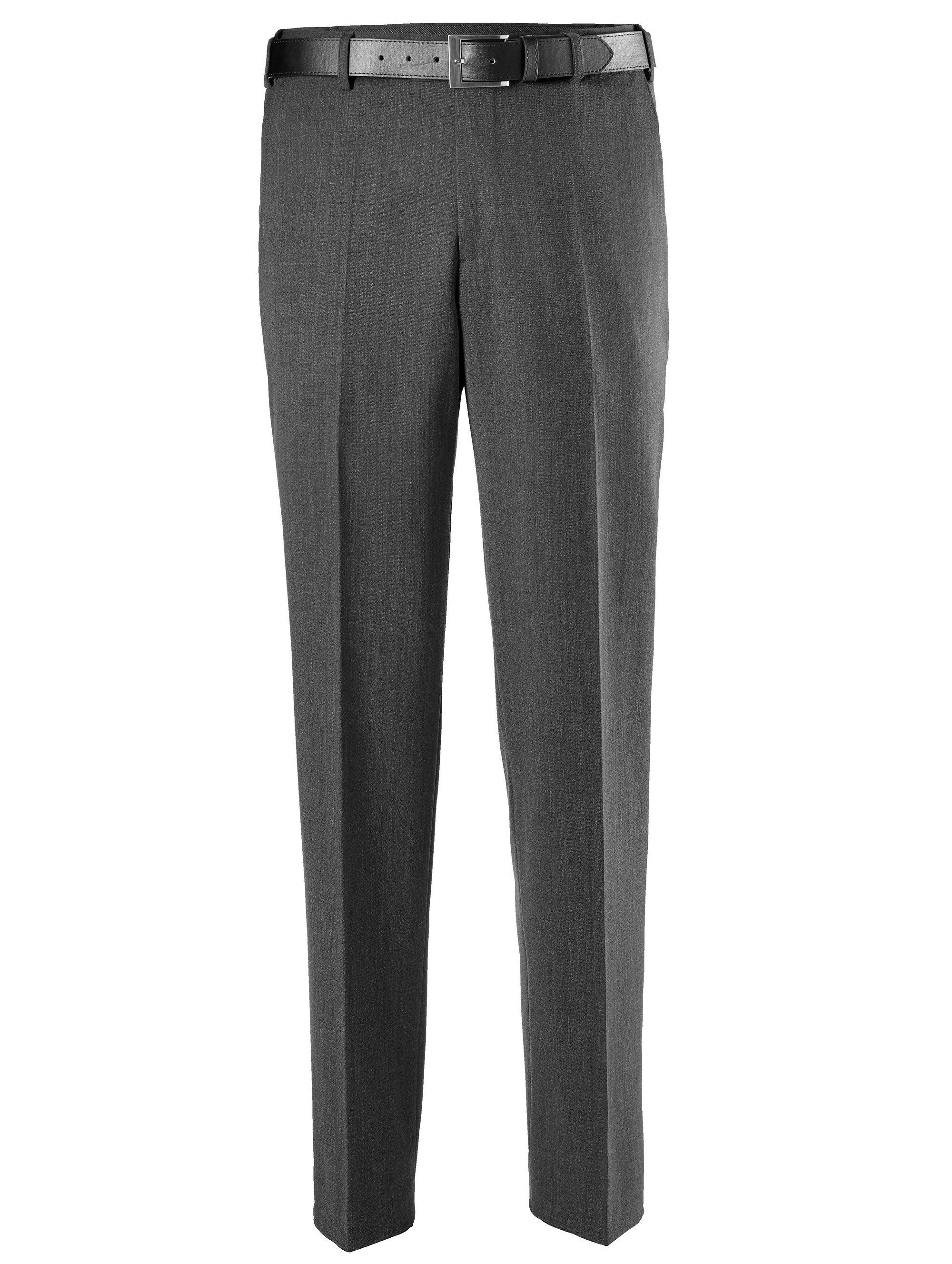 Men Plus by Happy Size Hose mit Gürtel | Bekleidung > Hosen > Sonstige Hosen | Grau | Polyester - Wolle | MEN PLUS BY HAPPY SIZE