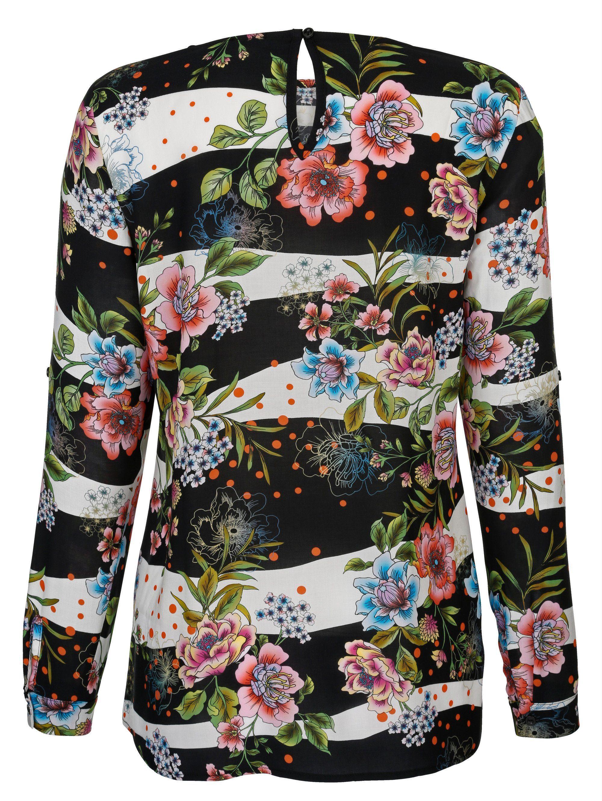 Alba Moda Bluse allover im ausdrucksstarken Blumenmuster
