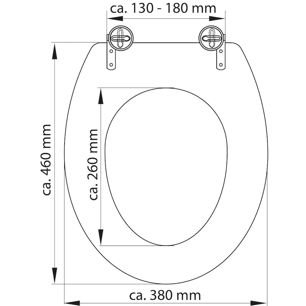 Schütte WC-Sitz »MDF WC- Sitz mit Holzkern«, weiß